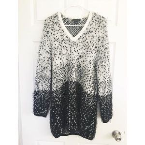 Trouvé black and white sweater